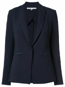 Veronica Beard zip pocket blazer - Blue