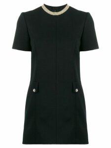Saint Laurent bead trim mini dress - Black