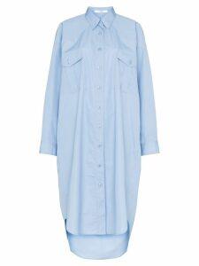 Givenchy oversized shirt dress - Blue