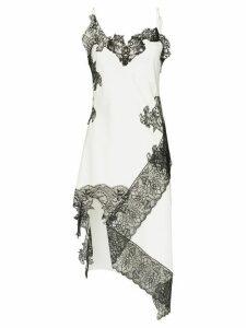 Marques'Almeida lace-trimmed slip dress - White