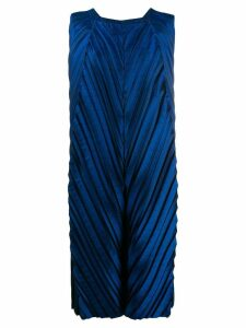 Issey Miyake pleated dress - Blue