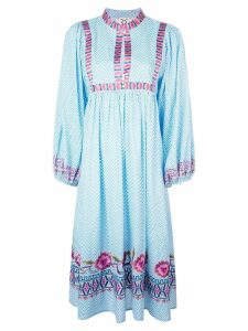 Figue embroidered midi dress - Blue