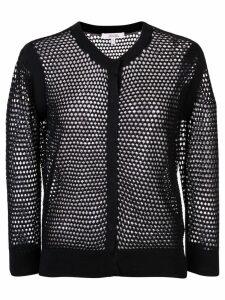 Dorothee Schumacher knitted mesh cardigan - Black