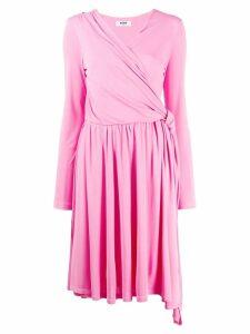 MSGM knee length wrap dress - Pink
