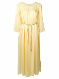 Forte Forte long ruched tunic dress - Yellow