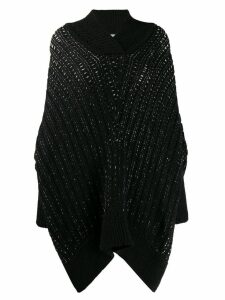 Saint Laurent knitted cape - Black