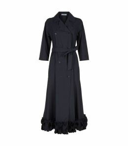 Belted Ruffle Hem Dress