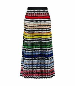 Uni Stamp Print Pleated Skirt