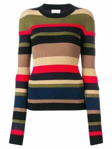 Sonia Rykiel striped knit jumper - Black