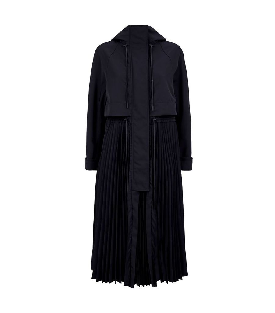 Pleat Panel Coat