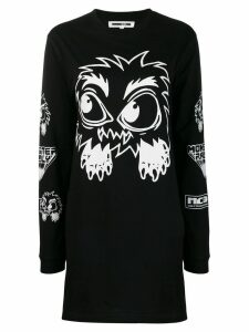 McQ Alexander McQueen monster print dress - Black