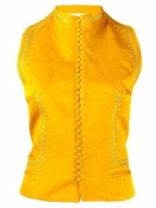 Haider Ackermann fitted waistcoat - Yellow