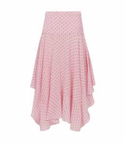 Asymmetric Monogram Skirt
