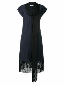 Sonia Rykiel scarf neck dress - Blue