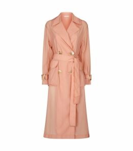 Addison Pleated Reverse Trench Coat