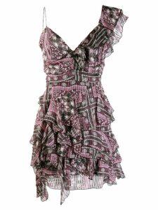 Isabel Marant enta ruffle dress - Purple