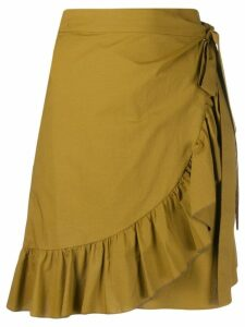 Etro wrapped short skirt - Neutrals