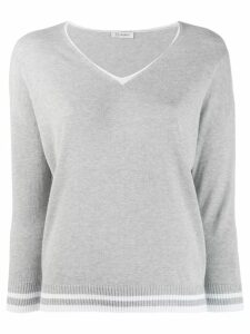 Peserico v-neck jumper - Grey