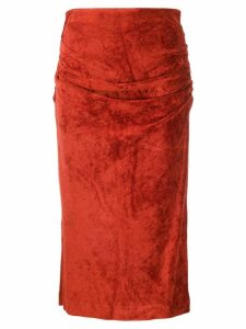 By Malene Birger high-waist draped skirt - Red