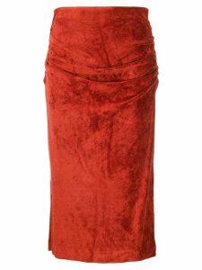 By Malene Birger high-waist draped skirt - Red