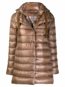 Herno hooded padded coat - Brown