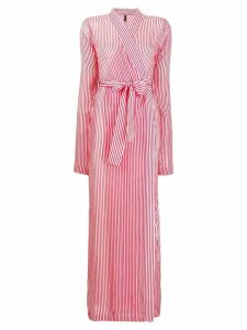 Unravel Project transparent striped robe dress - Red