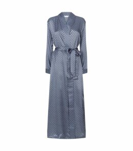 Silk Patterned Dressing Gown