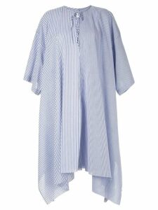 Marques'Almeida striped poplin dress - Blue