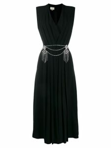 Gucci pleated wrap dress - Black