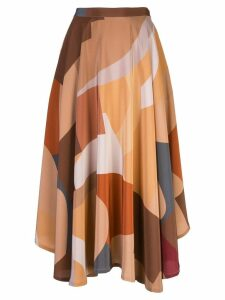 Lhd high-waisted skirt - Brown