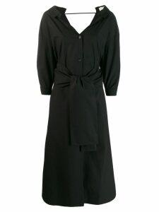Tela v-back shirt dress - Black