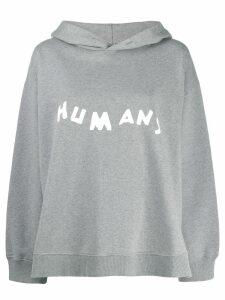 Mm6 Maison Margiela Humans hoodie - Grey