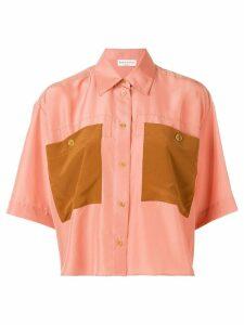 Sonia Rykiel contrast pocket shirt - Pink