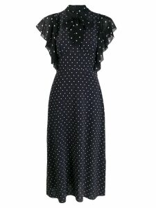 Karl Lagerfeld pussy bow dotted dress - Black