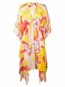 Emilio Pucci Rivera Print Silk Beach Dress - Pink