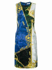 Versace Collection marble print dress - Blue