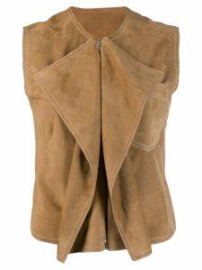 Aalto draped waistcoat - Neutrals