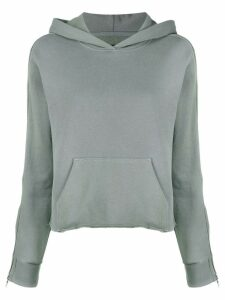 RtA zipped sleeved hoodie - Grey