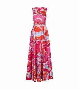 Silk Sleeveless Maxi Dress