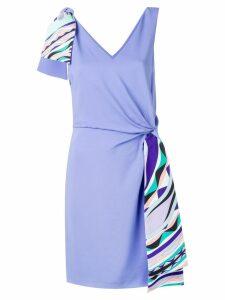 Emilio Pucci Contrast Knot Waist Dress - Purple