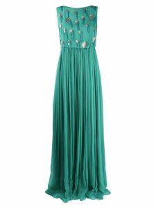 Just Cavalli sequin beaded evening dress - Green