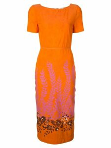 Fendi floral print dress - Orange