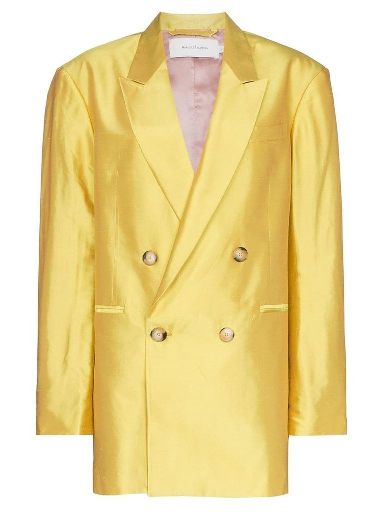 Marques'Almeida oversized double-breasted blazer - Yellow