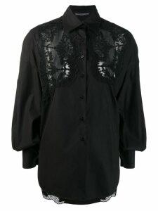 Ermanno Scervino blouse with lace details - Black