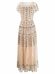 Temperley London Clio embellished long dress - Neutrals