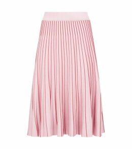Metallic Pleated Skirt