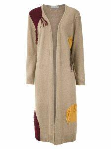 Mara Mac fringe detail cardi-coat - Brown