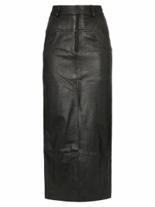 Markoo long-line slit-front skirt - Black