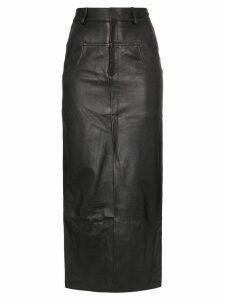 Markoo long-line slit-front skirt - Black