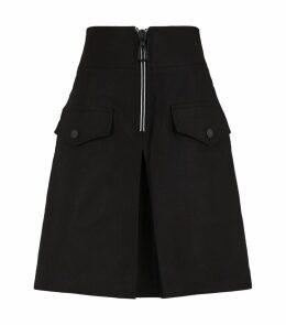 Contrast Zip Mini Skirt